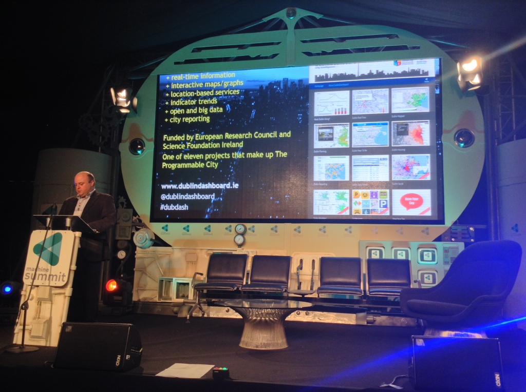 Rob Kitchin presenting a Smart Dublin
