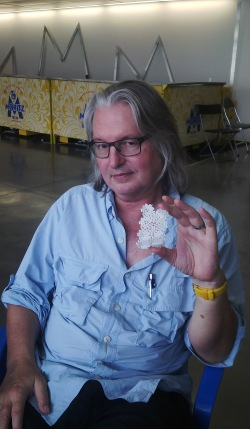 Bruce Sterling showing new futuristic materials